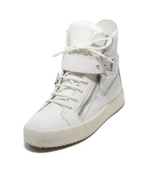 Giuseppe Zanotti White Leather Sneakers 1