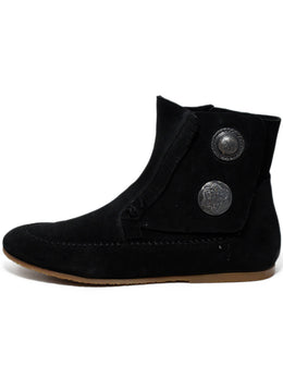 Giuseppe Zanotti Black Suede Buttons Booties 2
