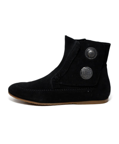 Giuseppe Zanotti Black Suede Buttons Booties 1