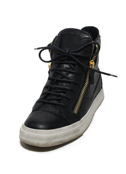 Giuseppe Zanotti Black Pressed Leather Sneakers 1