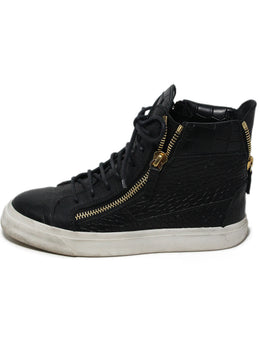 Giuseppe Zanotti Black Pressed Leather Sneakers 2