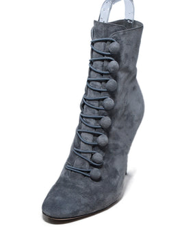 Gianvito Rossi Grey Suede Booties 1