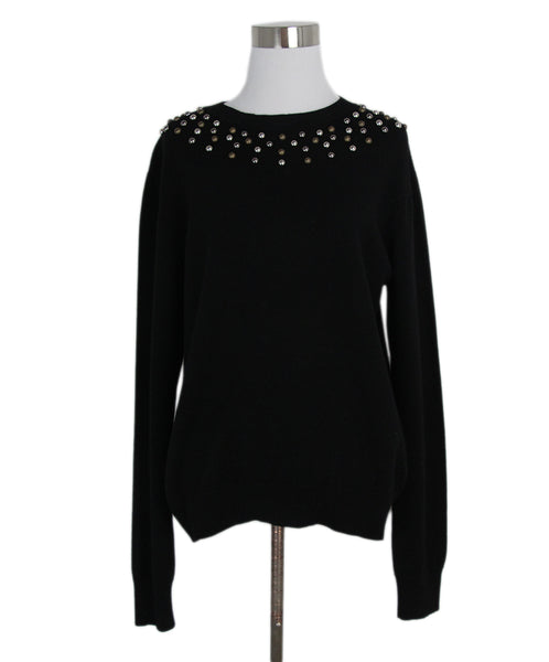 Givenchy Black Cashmere Studs Sweater 1