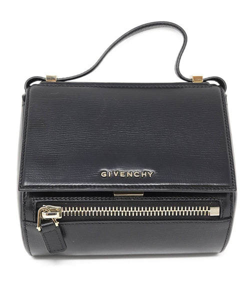 Givenchy Black Leather Pandora Box Handbag