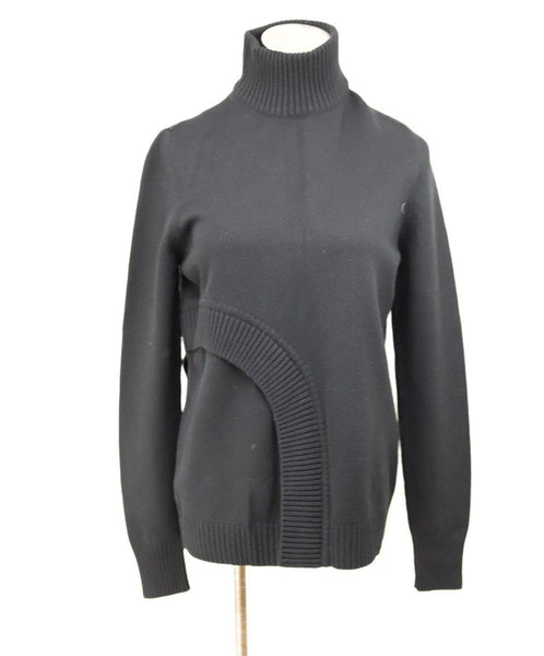 Turtleneck Givenchy Black Wool Viscose Sweater