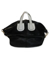 Givenchy Black Leather Satchel Bag with White Leather Details 1