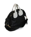 Givenchy Black Leather Satchel Bag with White Leather Details 2