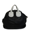 Givenchy Black Leather Satchel Bag with White Leather Details 3