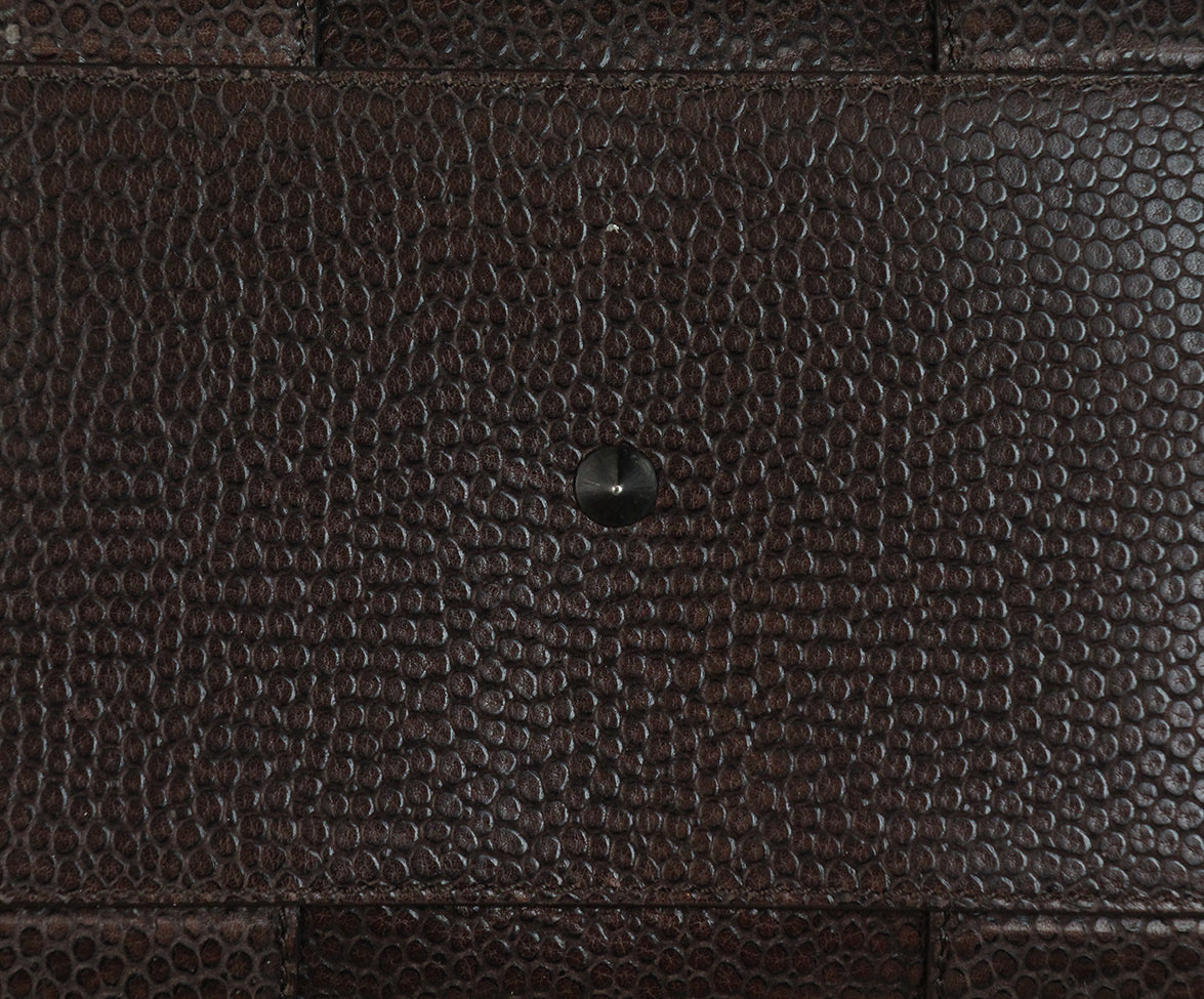 Givenchy Brown Pressed Leather Brown Calf Hair Tote 9