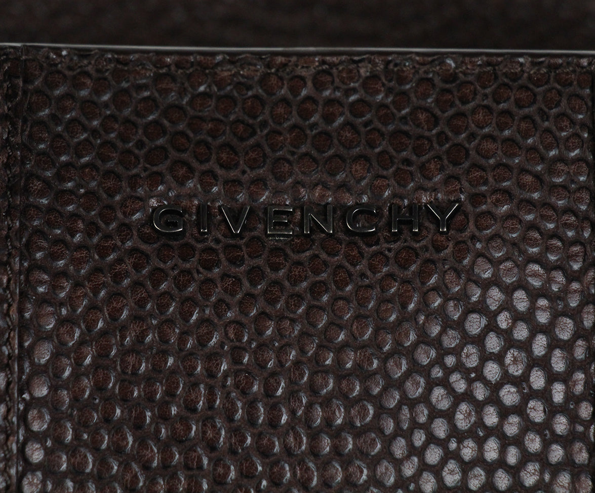 Givenchy Brown Pressed Leather Brown Calf Hair Tote 10