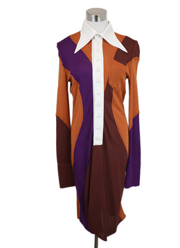 Givenchy Color Block Long Sleeve Dress 1