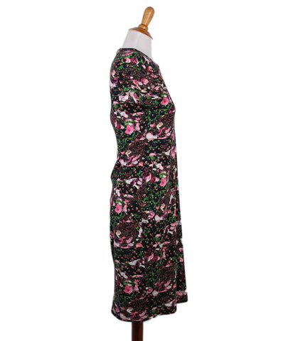 Givenchy Pink Black Floral Dress 1
