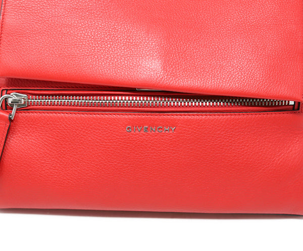 Givenchy Red Leather Satchel Handbag 8