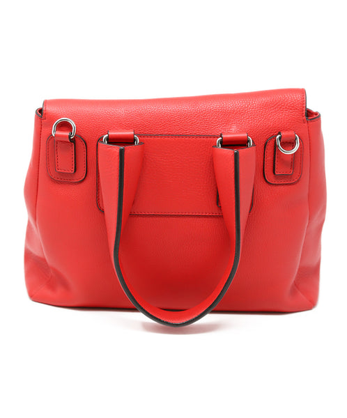 Givenchy Red Leather Satchel Handbag 2