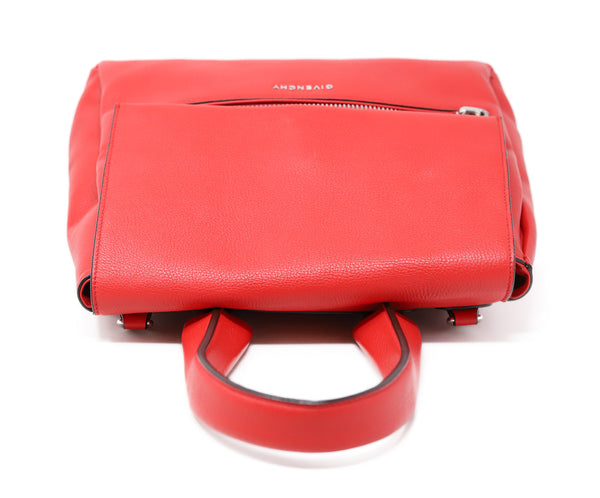 Givenchy Red Leather Satchel Handbag 4