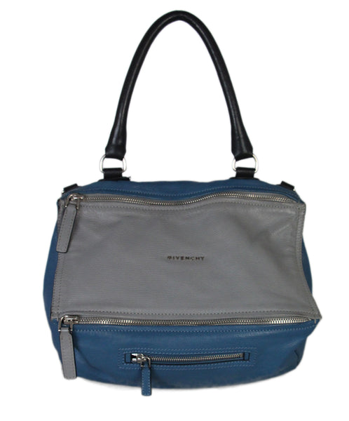 Givenchy Teal Grey Black Medium Pandora Tote 1