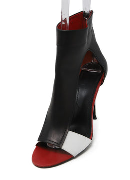 Givenchy Black White Red Leather Shoes 1