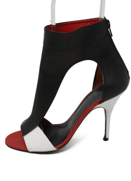 Givenchy Black White Red Leather Shoes 2