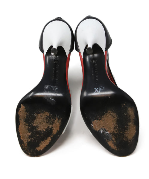 Givenchy Black White Red Leather Shoes 4