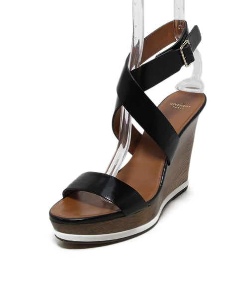 Givenchy black leather sandals 1