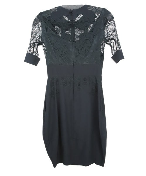 Givenchy Black Silk Lace Dress 2