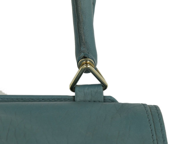 Givenchy Blue Leather Shoulder Bag Handbag 11