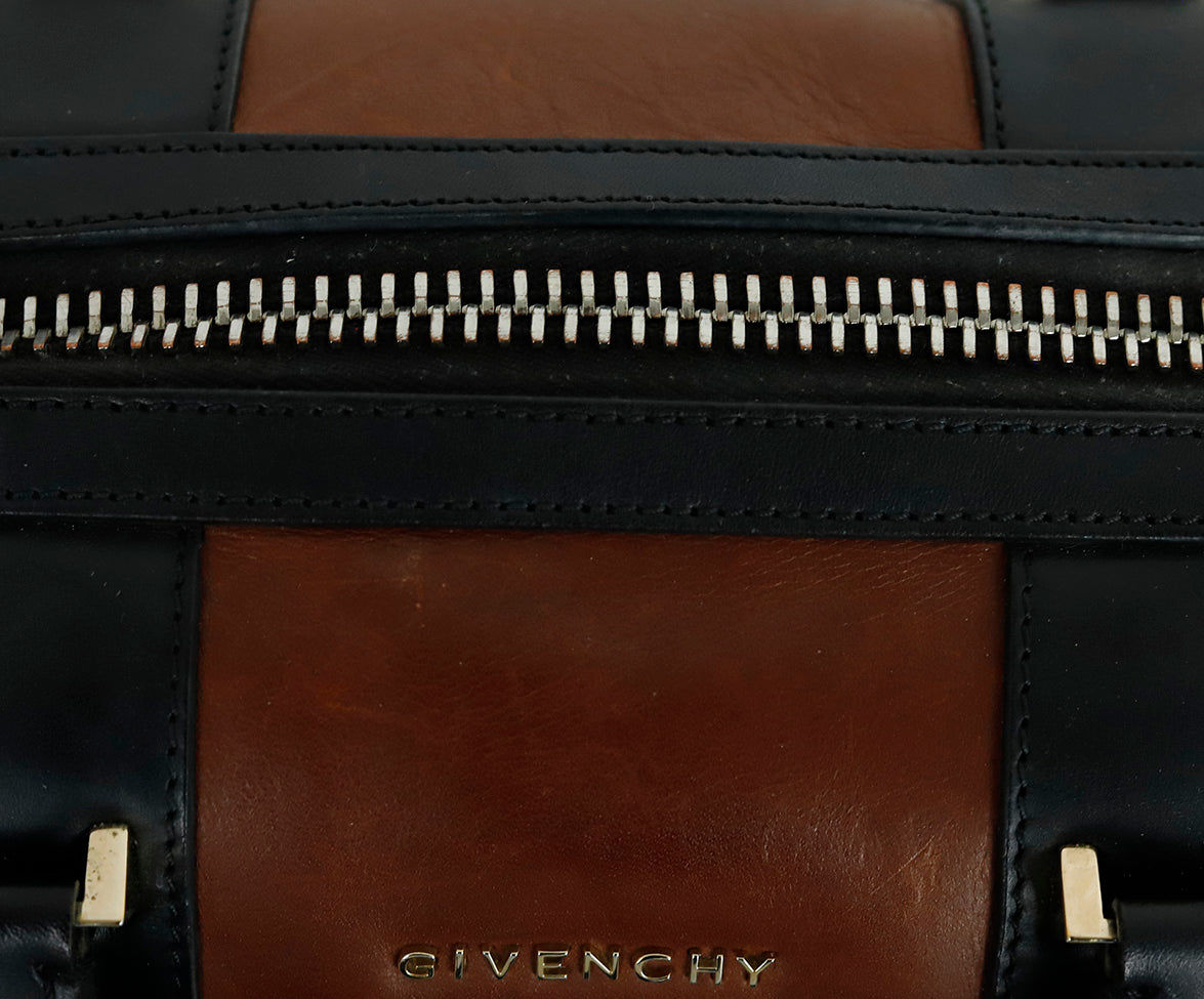 Givenchy Medium Lucrezia Brown Black White Paisley Leather Satchel Handbag 13