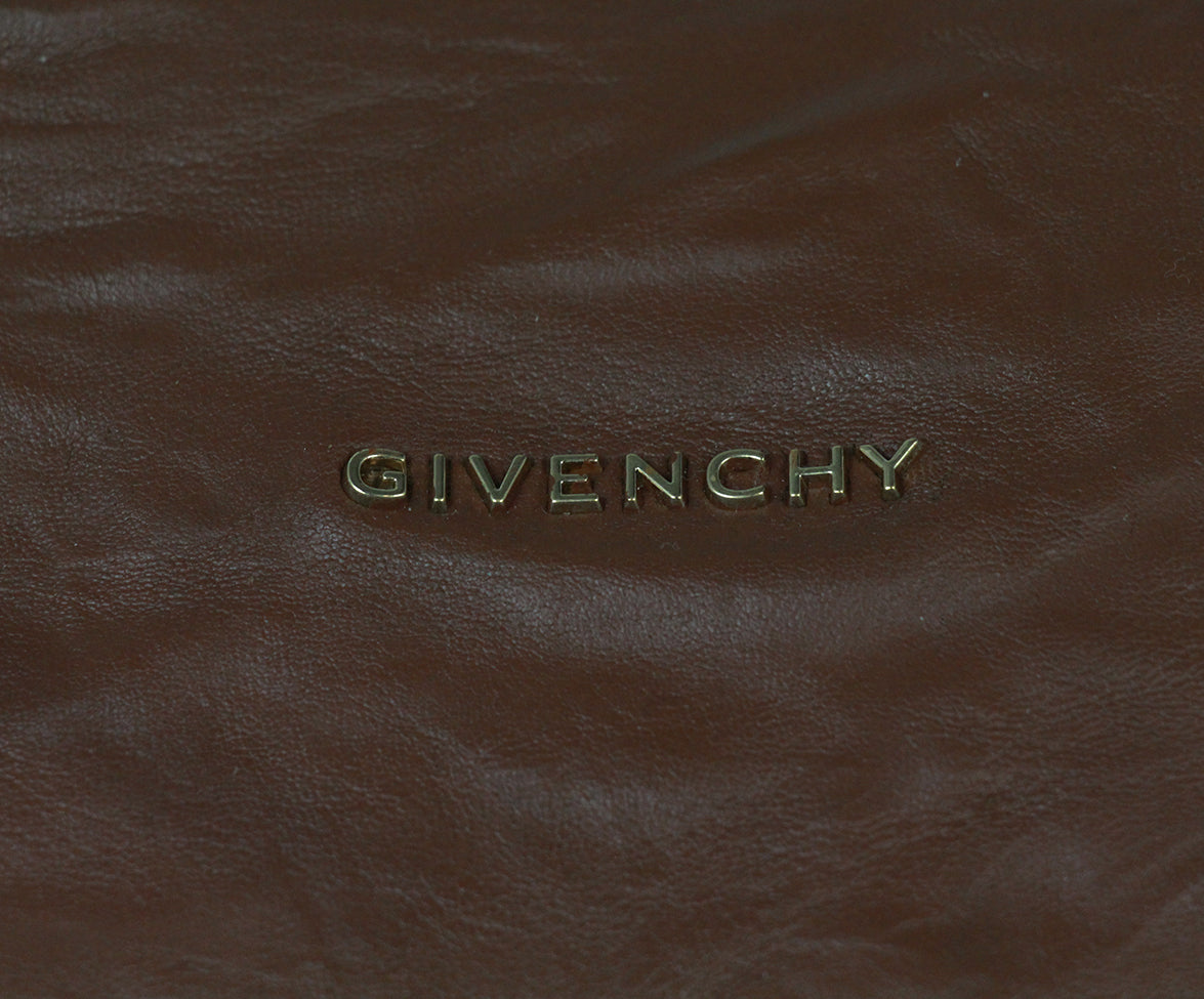 Givenchy brown distressed leather bag 7