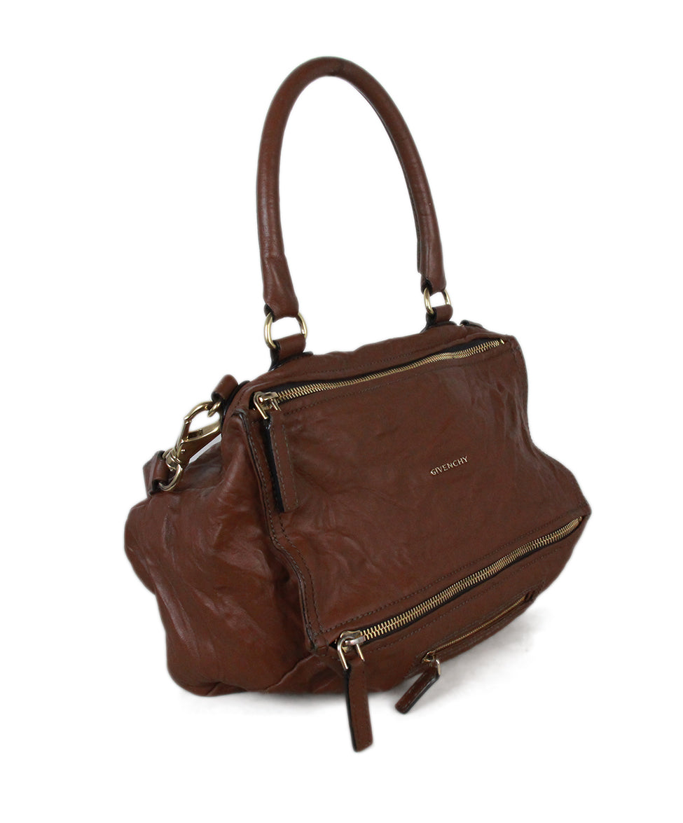 Givenchy brown distressed leather bag 2