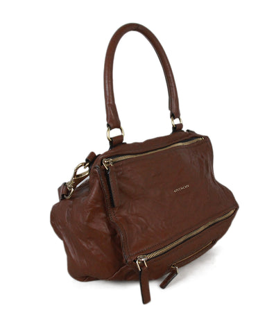 Givenchy brown distressed leather bag 1