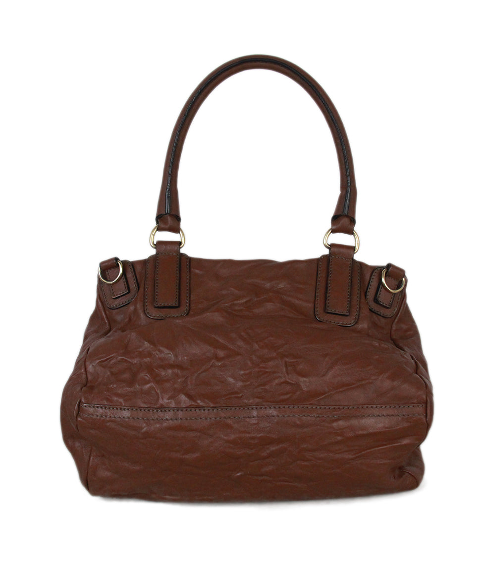 Givenchy brown distressed leather bag 3