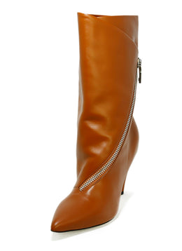 Givenchy Shoe Size US 8 Brown Tobacco Leather Zipper Detail Boots 1