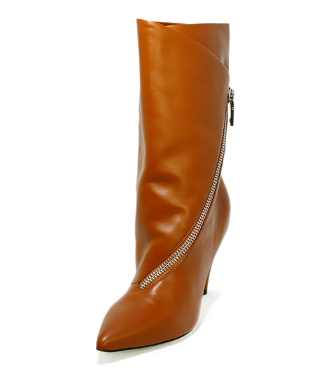 Jimmy Choo Neutral Tan Leather Booties Sz 40