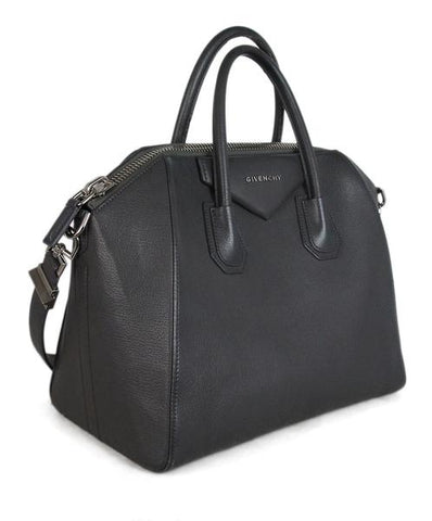 Givenchy Grey Leather Antigona Medium Satchel Handbag