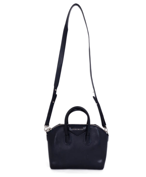 Givenchy Small Antigona Blue Navy Leather Satchel Handbag 1