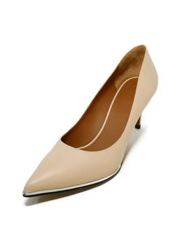 Givenchy Heels US 7.5 Neutral Peach Leather Shoes 1