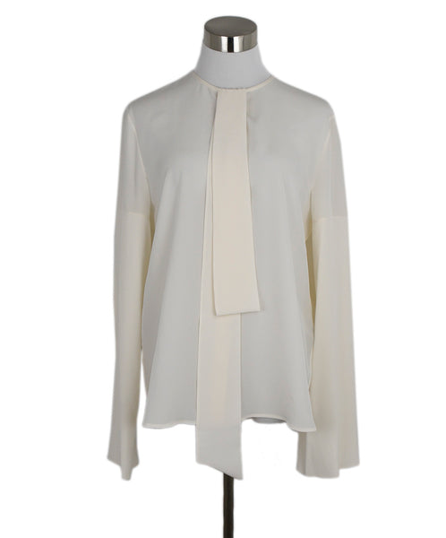 Givenchy Ivory Silk Top Blouse 1