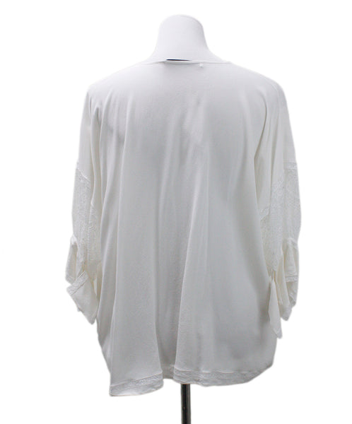 Givenchy Ivory Silk Lace Top 2