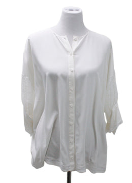 Givenchy Ivory Silk Lace Top