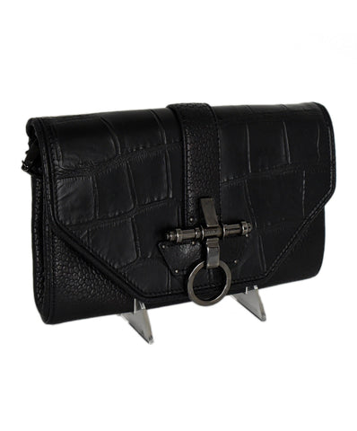 Givenchy Black Grained Leather Handbag 1