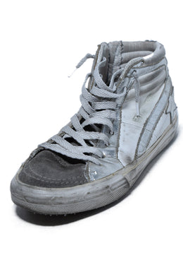 Golden Goose White Silver Leather High Tops Sneakers 1