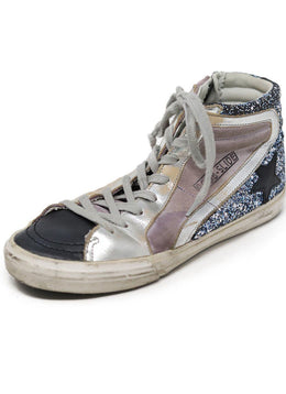 Sneakers Shoe Golden Goose Black Pink Leather Glitter Shoes