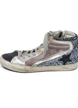 Sneakers Shoe Golden Goose Black Pink Leather Glitter Shoes 1