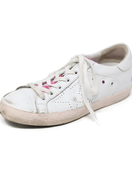 Sneakers Golden Goose Shoe White Leather Pink Mink Shoes