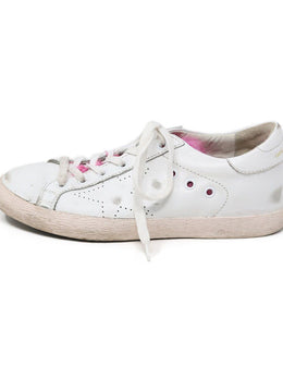Sneakers Golden Goose Shoe White Leather Pink Mink Shoes 1