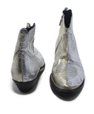 Golden Goose Metallic Silver Leather Booties 3