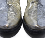 Golden Goose Metallic Silver Leather Booties 8