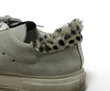 Golden Goose Sneakers Shoe Size US 7 White Grey Pony Suede Leather Shoes 7