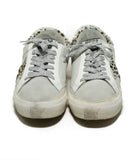 Golden Goose Sneakers Shoe Size US 7 White Grey Pony Suede Leather Shoes 4