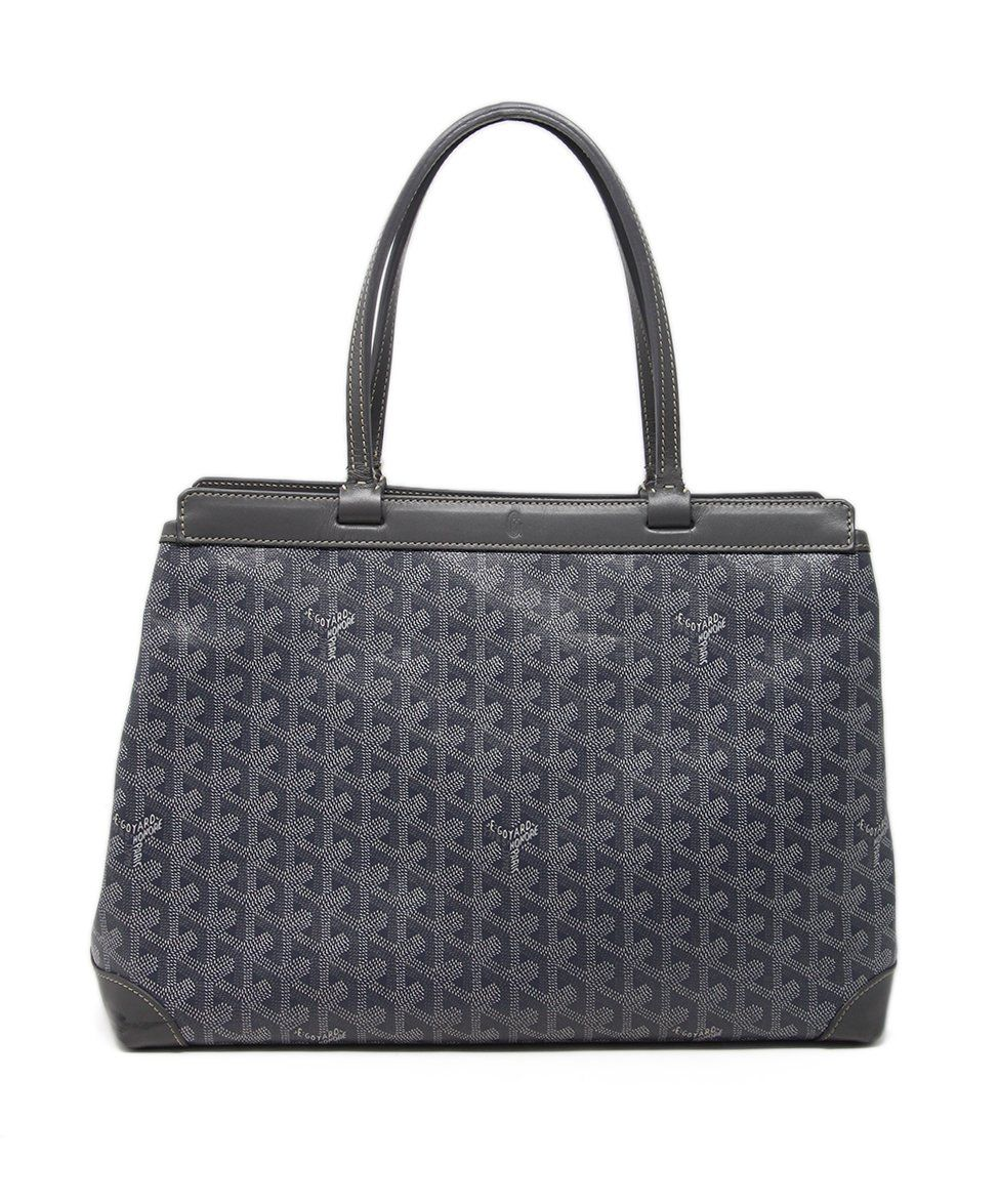 Goyard Grey White Canvas Tote 1